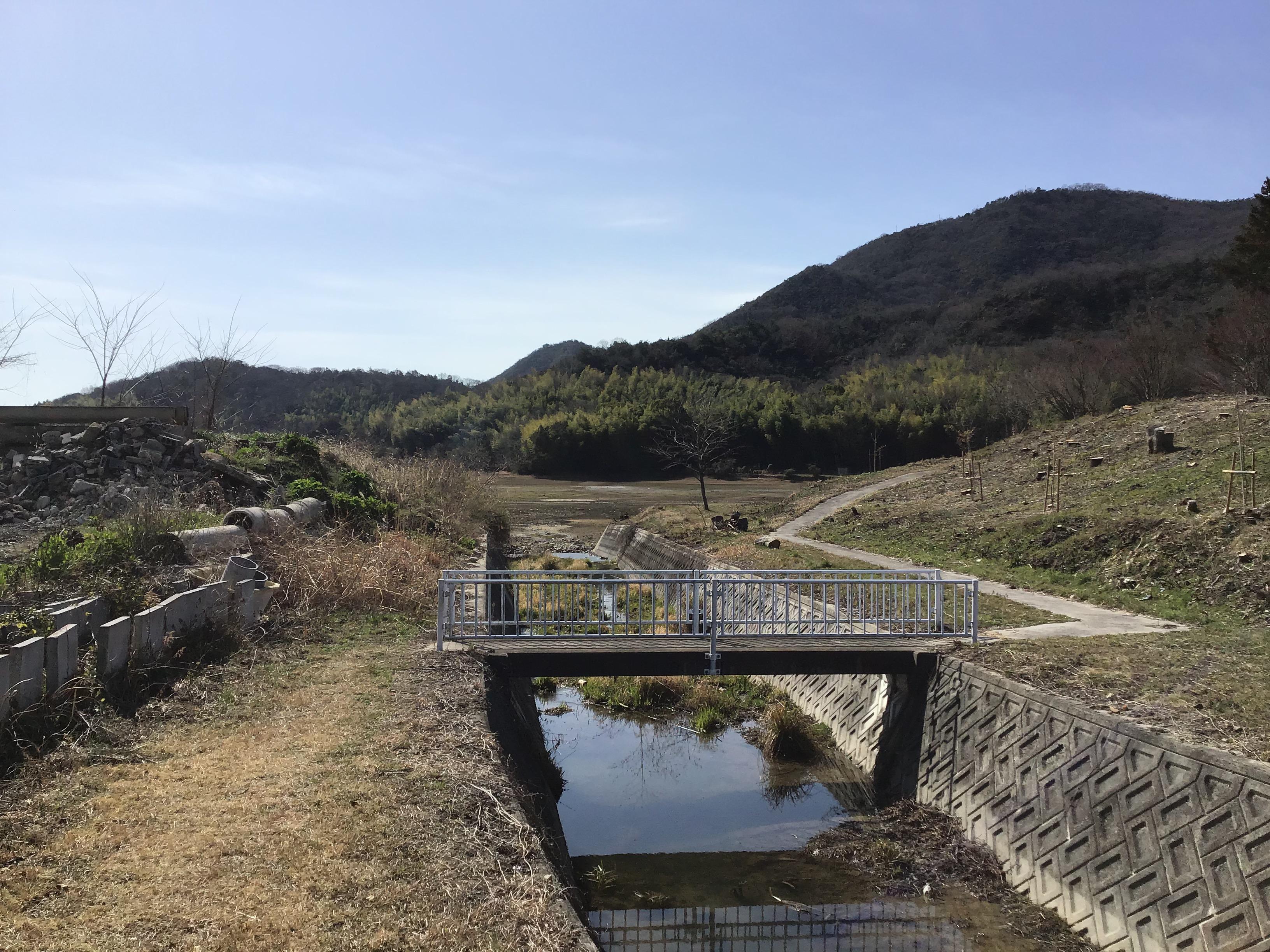 大池への水路橋の拡幅要望