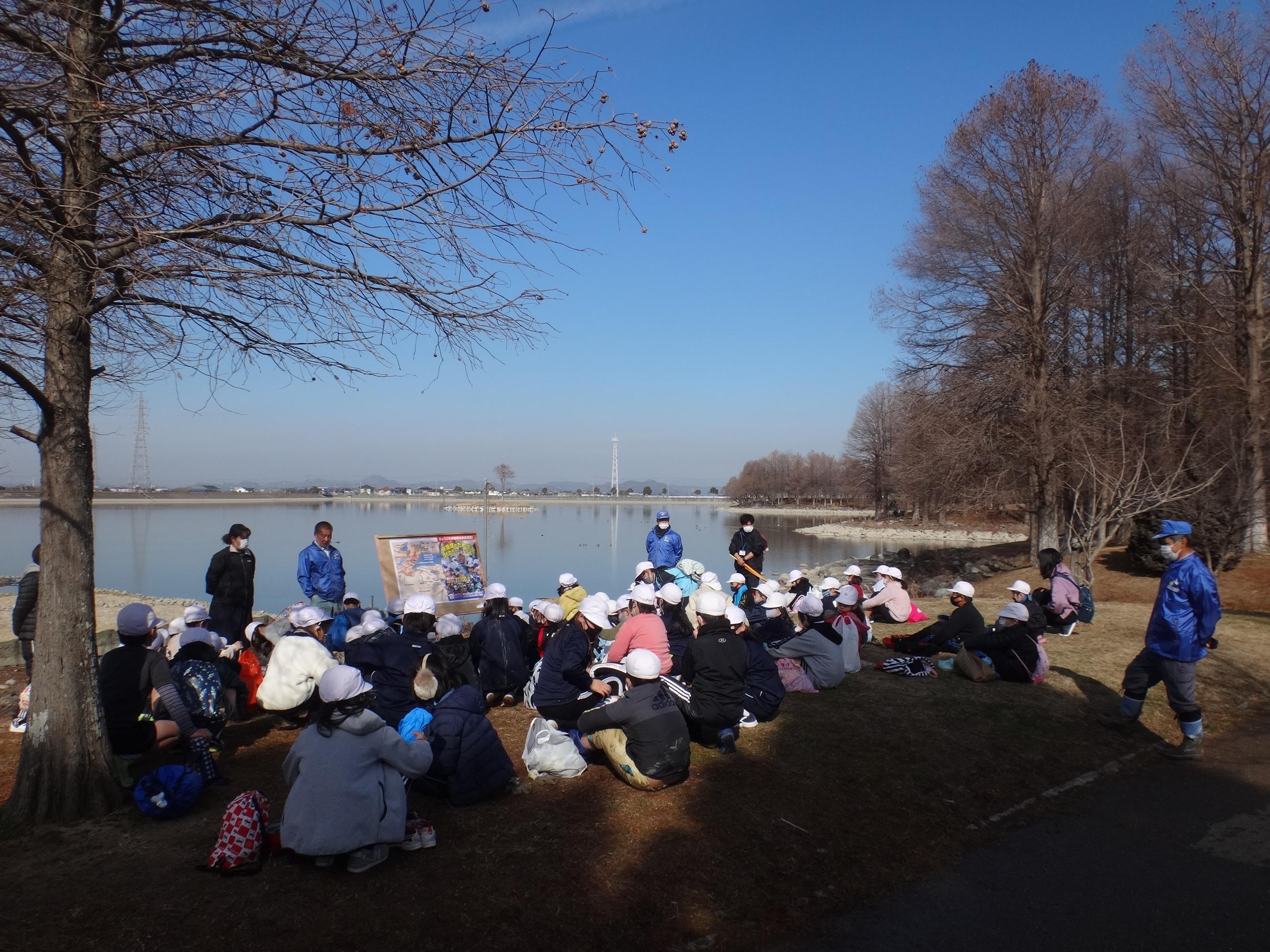 天満東小学校3年生(58人)校外環境学習 令和3年2月5日(金)