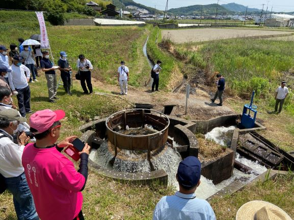 原大池樋抜きの儀(5月30日)
